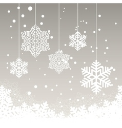 Christmas card with snow vector