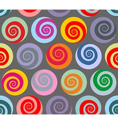 Colorful seamless pattern spiral retro abstract vector