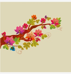 Fairytale tree vector