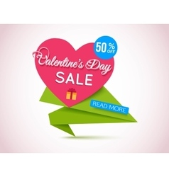 Happy valentines day sale banner valentines day vector