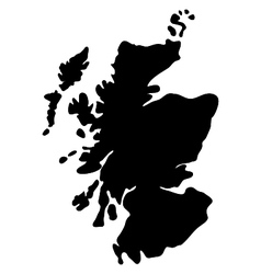Map scotland vector