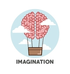 Graphic design of imagination vector