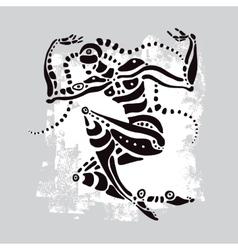 African dancer ethnic vector