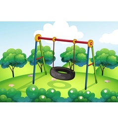 An empty park vector image vector image