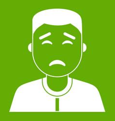 asian man icon green vector image