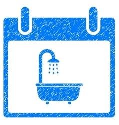 Bath calendar day grainy texture icon vector