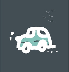 car cards for children vector image vector image