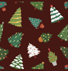 Christmas new year tree icons ornament star vector