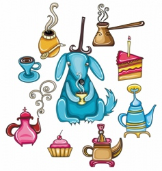 coffee and tea design element vector image vector image