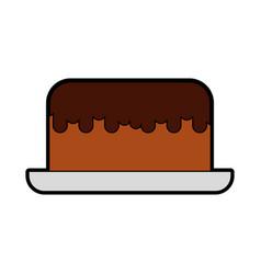 Cute cake cartoon vector