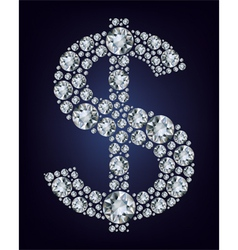 dollar symbol in diamonds vector image vector image