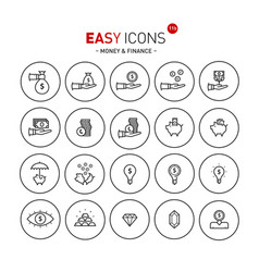 Easy icons 11b money vector