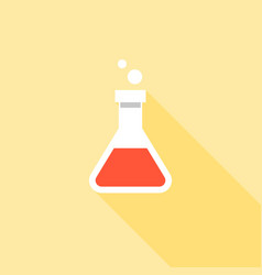 Erlenmeyer flask for experiment sign icon vector