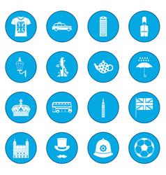 great britain icon blue vector image vector image