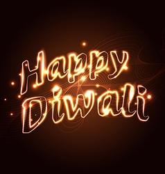 Happy diwali text vector