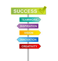 indicator success business vector image vector image