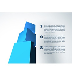 Infographic with blue 3D cube pyramid vector image