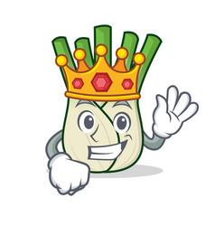 King fennel mascot cartoon style vector