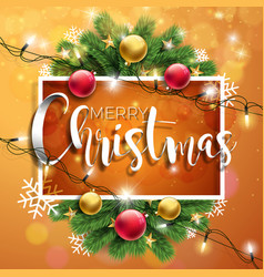 merry christmas on brown vector image