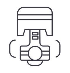 repair car engine piston line icon sign vector image