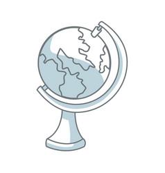 school globe map atlas study element vector image vector image