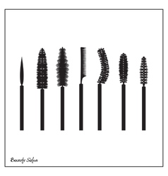 set of brushes mascara vector image vector image