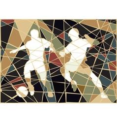 Soccer stars mosaic vector