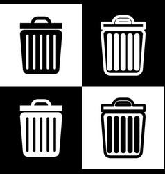 Trash sign black and white vector