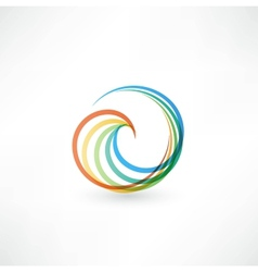 Design elements with spiral motion vector image