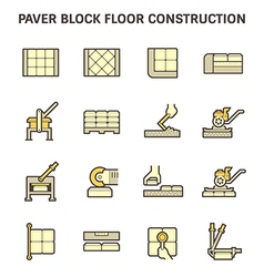 Paver block work vector image