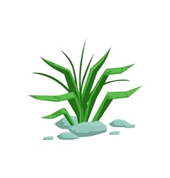 Growing grass natural landscape design element vector