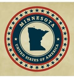 Vintage label Minnesota vector image