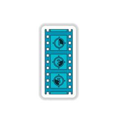 In paper sticker style film vector