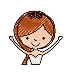 Cute wife avatar character vector