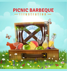 picnic barbecue vector image