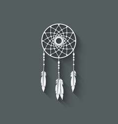 Dreamcatcher design element vector image