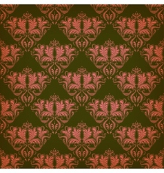 Seamless pattern with floral motifs vector image