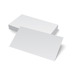 Stack of blank business card on white background vector