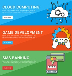 Flat design concept set of for web banners cloud vector