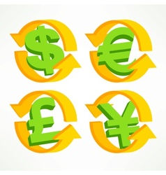 Money symbol on white vector image