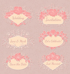 Floral frame collection vector