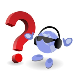 question mark world vector image
