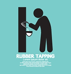Black symbol rubber tapping vector