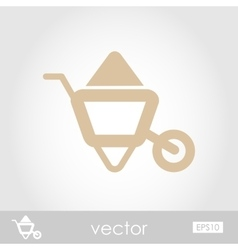 Wheelbarrow carts icon vector