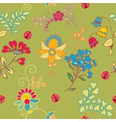 garden floral seamless vector image
