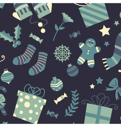The perfect christmas background pattern vector image