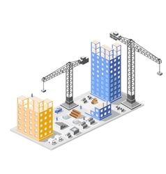Industrial construction isometrics vector