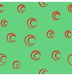 Circle red seamless pattern vector