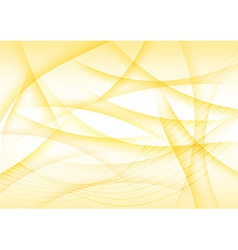 Abstract wind - yellow transparent background vector image vector image