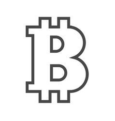 bitcoin thin line icon vector image